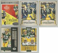 Aaron Rodgers Green Bay Packers 5 card 2016 CLASSICS insert lot-all different