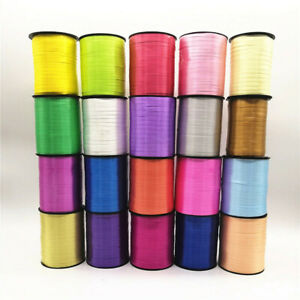450m / 500 Yards Curling 5mm Ribbon, Wrapping Balloon, Full Roll, 17 Colours