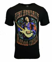 JIMI HENDRIX Men Tee T Shirt VOODOO Rock Music Vintage s Sleeve Guitar Black NEW
