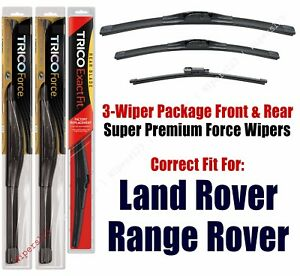 Wiper Blades Trico 3pk Front/Rear fit 2016+ Land Rover Range Rover 25240/200/15i