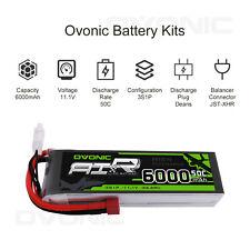 OVONIC 50C 6000mAh 11.1V 3S Lipo Battery Pack Deans for 1/10 Car Buggy Heli Quad