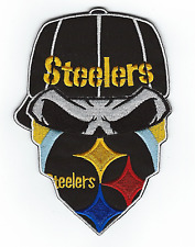 "PITTSBURGH STEELERS 5.5"" Black Iron-on NFL Football Jersey PATCH! Steeler Nation"