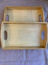 Wooden Tray X 2💛Storage/Display/Food/Craft Use