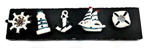 SAILING BOAT Push Pins Set of 5 Handmade Decorative Memo Thumb Tacks