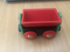 33614 Authentic Brio Wooden Train Red Tipping Wagon! Thomas!