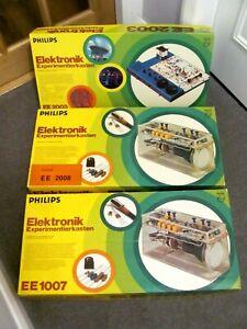 Vintage Philips Elektronik Experimentierkasten EE2003/EE2007/EE2008