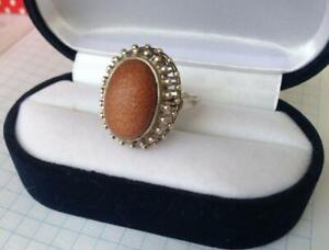 Vintage Russian Soviet Sterling Silver 875 Ring , Women's Jewelry Size 8.75