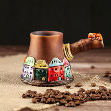 Ceramic Coffee Pot Cezve Ibrik Turka Architectural Ornamented Art Collectible