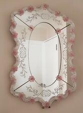 Beautiful Large Venetian Mirror Mid Century Hollywood Regency