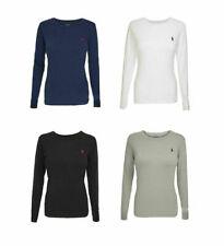 Ladies Ralph Lauren Cotton Long Sleeve Crew Neck T Shirt