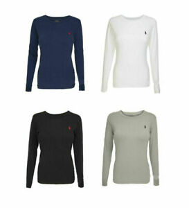 Ladies Ralph Lauren Cotton Long Sleeve Crew Neck T Shirt