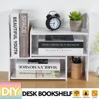 DIY Schreibtisch Bücherregal Bücherschrank Organizer Rack Büro Einheit Lager Box