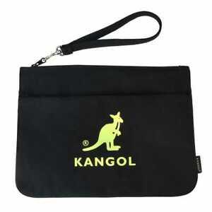 Kangol Dual Canvas Clutch Black Pop Color Pouch   NWT