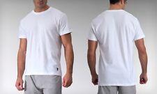 Blanco De Manga Corta para Hombre Básico T-shirts Us Polo Assn BNWOT Tamaño pequeño gimnasio, Ajuste