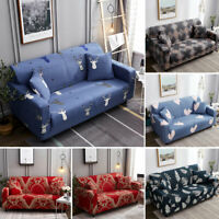 1 2 3 4 Seater Stretch Soft Sofa Cover Couch Covers Slipcovers Protector Floral