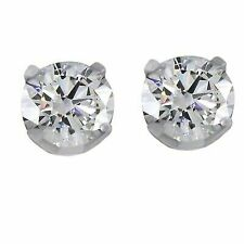 2.00 Ct Brilliant Round Cut Solid 14k White Gold Screw Back Studs Earrings