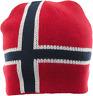 Knitted Norwegian Warm Cap Hat Winter Norway Flag Sport Unisex Red Men Women