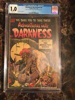 Adventures into Darkness #7 CGC 1.0 *SCARCE ISSUE* Pre-Code Horror UNPRESSED PCH