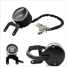 12V Motorcycle LCD Digital Speedometer 12000RPM Tachometer km/h Water Temp Meter