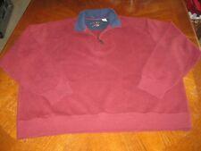 Orvis Men's XXL Pullover Sweater Maroon 1/2 Zip Long Sleeve Outdoor 2XL, WOW!!!!