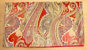 luxury table runner  Sanderson fabric. red  gold   130 x 35 cm approx