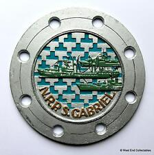 NRP S. Gabriel - Old Portuguese Navy Metal Tampion Plaque Badge Crest