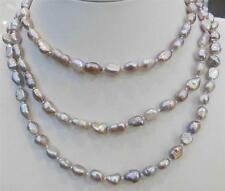 cadeau d'anniversaire ,122cm, 7-9mm, violet, perle de culture, naturel, collier