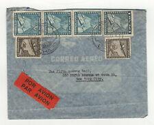 1940 Correo aéreo Chile Chili timbres sur lettre / B5A2
