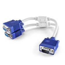VGA Splitter Cable 1Ft 1 Male to 2 Female VGA Monitor Adapter Y Cable Cord