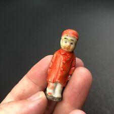 VTG  Bisque Doll BOY Japan Frozen Charlotte Diorama Dollhouse Miniature Toy 1.75