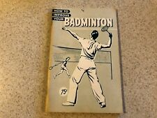 Vintage How To Improve Your Badminton Book Athletic Institute Series