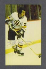 Brad Park signed Boston Bruins vintage team issued hockey postcard