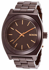 Brand New Nixon A2501192 Women's Ceramic Time Teller Cherry Chocolate Watch
