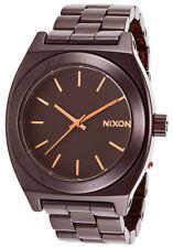 Brand New Nixon A2501192 Women's Ceramic Time Teller Cherry Chocolate Watch