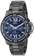 Invicta Men's 15061 Specialty Chronograph Blue Dial Gunmetal IP Watch