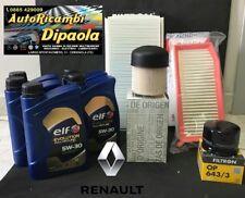 KIT TAGLIANDO RENAULT CLIO IV CAPTUR 1.5 DCI 5L ELF C4 5W30 +4FILTRI GASOLIO ORI