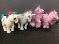 Vintage  MLP My Little Pony Lot Of 4 Gusty Sparkler Heart Throb Milky Way