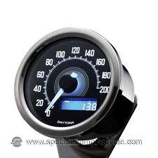 Contachilometri Elettronico Daytona Silver Luce Bianca 200Km/h Cafè Racer