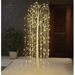 Holiday Time Twinkling LED Willow Tree Indoor/Outdoor Christmas Decoration, 4'