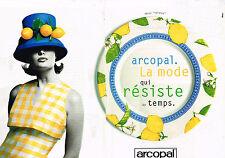 PUBLICITE ADVERTISING 035  1996  ARCOPAL   assiettes décor VALENCE ( 2p)