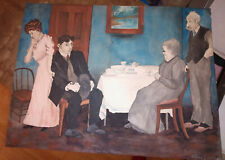 19thc. Georgian English Caricature Watercolor FolkArt Americana Painting Haskell
