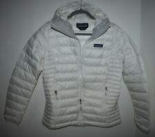 Patagonia Women's Down Sweater Hoody Winter Jacket Size Small White