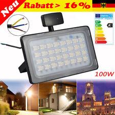 100W LED Flutlicht mit Bewegungsmelder Fluter Strahler SMD Außen Scheinwerfer DE