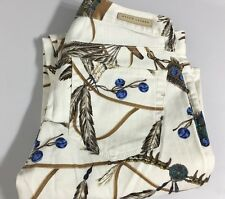 Polo Ralph Lauren Womens Jeans Indian Southwestern Print White Turquoise 26
