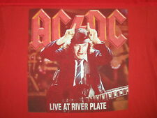 AC/DC LIVE AT RIVER PLATE T SHIRT Concert Tout Angus Young Devil Horns Red 2XL