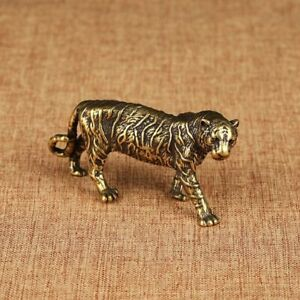 Pure Copper Big Tiger Animal Figurines For Home Decorations Miniature Ornaments