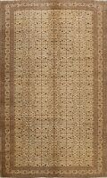Vintage Floral Traditional Anatolian Turkish Area Rug Hand-knotted 7x10 Carpet