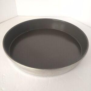 "Mirro Round 9"" Cake Pan Non-Stick Finish Gray Heavy Duty Aluminum USA"