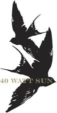 40 WATT SUN - PVC Sticker - Birds Logo