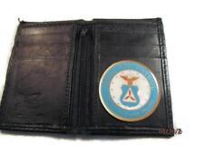 CAP CIVIL AIR PATROL BLACK SMOOTH LEATHER BIFOLD ZIPPER CREDIT CARD WALLET